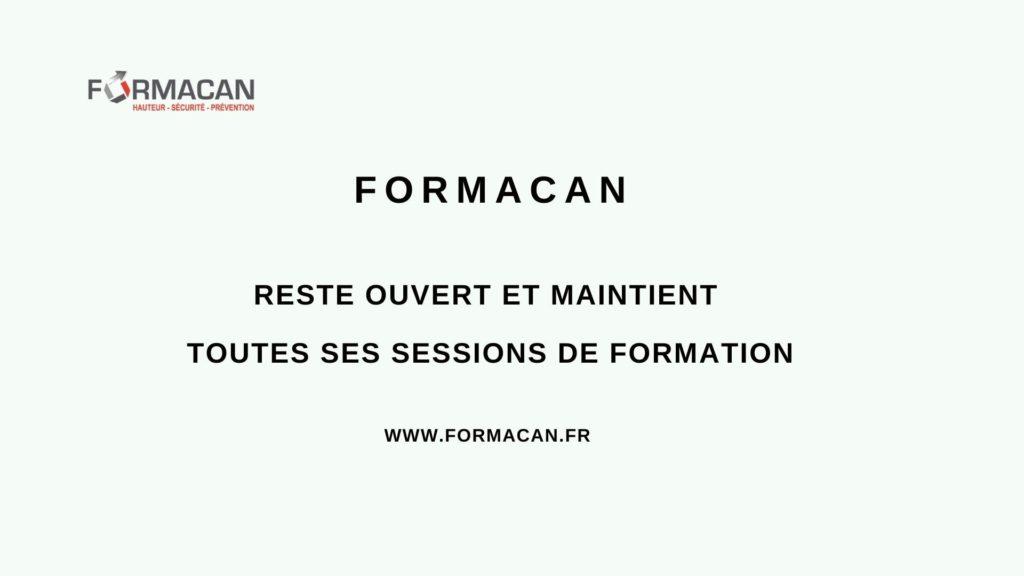 FORMACAN reste ouvert pendant la période de confinement